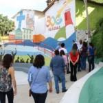 Equipe da ONU visita as comunidades beneficiadas na capital com o Programa Vida Nova nas Grotas