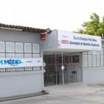 Escola Estadual Miran Marroquim, no bairro de Jacintinho, amplamente reformada
