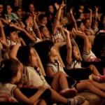 Criançada aprovou o espetáculo Bonecos do Mundo