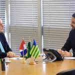 Renan Filho em encontro com o ministro da Cidades, Alexandre Baldy, obtém recursos para obras na capital