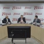 Presidente do BNB, Romildo Rolim, em entrevista coletiva à imprensa, apresenta os números da instituição financeira