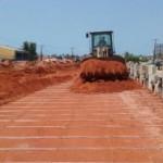 Obras referentes aos serviços de terra armada avançam no sentido litoral