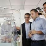 Renan Filho, secretário de Saúde do Estado e diretor da Uncisal entregam novos leitos da Santa Mônica à comunidade