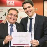 Presidente do Banco do Nordeste, Romildo Carneiro Rolim, e o novo Superintendente Estadual para Alagoas, Pedro Ermírio de Almeida Freitas Filho