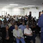 Palestrante Alex Oliveira abordou os seguintes temas: FGTS, INSS e Receita Federal.