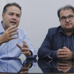 Governador Renan Filho e secretário da Fazenda, George Santoro, anunciam calendário do pagamento do décimo-terceiro salário