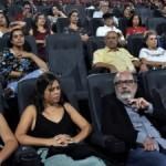 Cineasta Cacá Diegues e jornalista Ênio Lins assistiram juntos ao lançamento do filme em Maceió