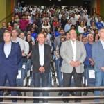Presidente da Fiea, José Carlos Lyra, o secretário de Desenvolvimento Econômico, Rafael Brito, e a classe empresarial unidos em prol do fortalecimento da indústria de plástico
