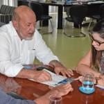 Presidente José Carlos Lyra discute a parceria com a vice-reitora Ilka do Amaral Soares