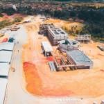 Obra executada pela Sanama para construção da Estação de Tratamento de Esgoto do Benedito Bentes