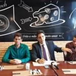 Superintendência do Banco do Nordeste, Pedro Ermírio, e demais diretores em entrevista concedida nesta quarta-feira à imprensa