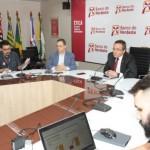 Presidente do BNB, Romildo Rolim, apresenta resultados do banco em coletiva de imprensa Crédito: Gabriel Gonçalves