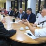 Renan Filho se reuniu com Diego Berger, coordenador de projetos internacionais da Mekorot (empresa de abastecimento de Israel). secretários e diretores