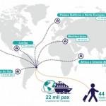 Turismo em cruzeiros cresce cada vez mais em nível mundial