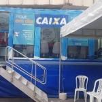 Caminhão da Caixa Econômica está disponível para os clientes do banco no Centro de Maceió