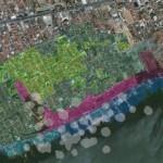 Área atingida pela exploração de sal-gema pela Braskem que vem causando fissuras e rachaduras nos imóveis dos bairros do Mutange, Bebedouro e Pinheiro