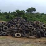 Pneus jogados no lixo ameaçam o meio ambiente