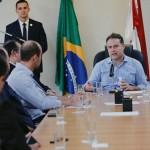 Governador Renan Filho em reunião com produtores de leite no Palácio da República dos Palmares