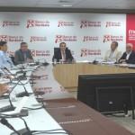 Presidente do Banco do Nordeste, Romildo Carneiro Rolim, apresenta o balanço positivo da instituição em reunião com a diretoria