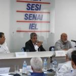 Secretário de Transportes, Mozart Amaral, ao lado da diretoria da Fiea, fala sobre os projetos estruturantes para a capital e o Estado