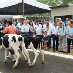 Público compareceu à abertura da Expo Bacia, hoje, em Batalha