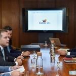 Governador Renan Filho em reunião com a diretoria da TAP em Lisboa