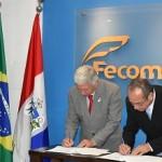 Cônsul da Argentina, Alejandro  Funes, e o presidente do Fecomécio, Gilton Lima, assinam parceria para fomentar negócios entre Alagoas e Argentina