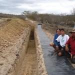 Barragens subterrâneas ajudam a acumular água para abastecer as comunidades rurais