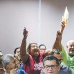 Representantes e dirigentes de entidades ficaram felizes com o resultado do sorteio