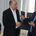 Vice-presidente de Varejo do BB, Carlos Motta, recebido pela diretoria da Fiea, vice-presidente José da Silva Nogueira e vice-presidente da Faeal, Edilson Maia