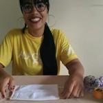 Artesã alagoana Wendy Barros ajudando a combater o Covid 19 com a produção de máscara caseira
