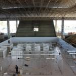 Montagem do hospital de campanha, no Sesi, vai ajudar o Estado de Alagoas no combate ao coronavírus