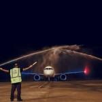 Aterrisagem do Airbus A321neo, no Aeroporto Zumbi dos Palmares, nesta sexta-feira, marcou o voo inaugural da TAP de Lisboa para Maceió