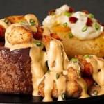 Saborosos pratos são oferecidos aos clientes do Outback