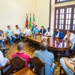 Empresários se reuniram na Associação Comercial de Maceió com o prefeito JHC
