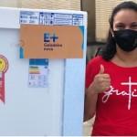 Com a geladeira nova, Edivânia pretende reduzir o consumo de energia elétrica