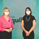 A psicóloga Daniele Fernandes Peixoto  e Cláudia Piatti, diretora de Segurança e Saúde para a Indústria (SSI) do Sesi/AL