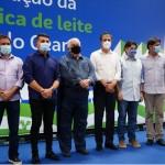 Cerimônia de inauguração da primeira unidade de leite em pó da Betânia Lácteos, no município de Morada Nova, no Ceará
